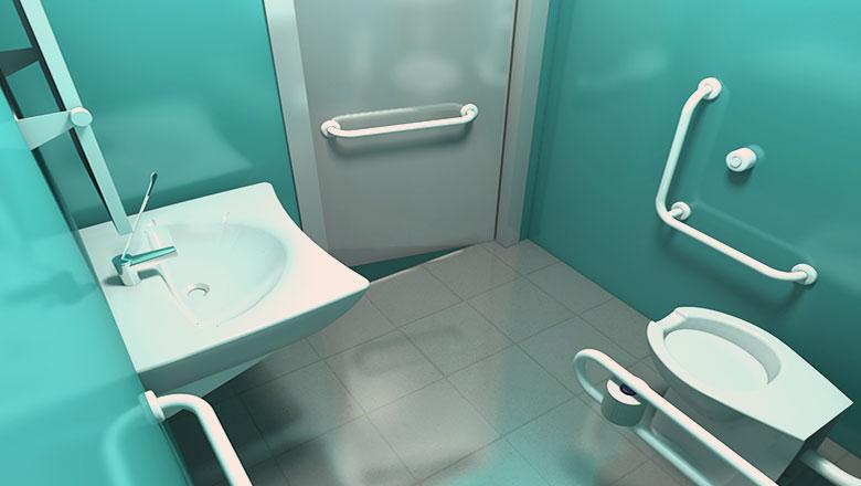 Come arredare un bagno per disabili colorivernici