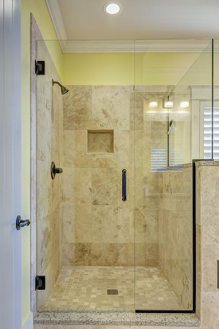 porta per doccia in muratura