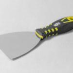 NATG13001-spatola inox a campana manico in gomma da 15 cm